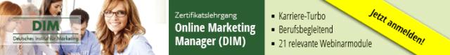 Lehrgang Online Marketing Manager
